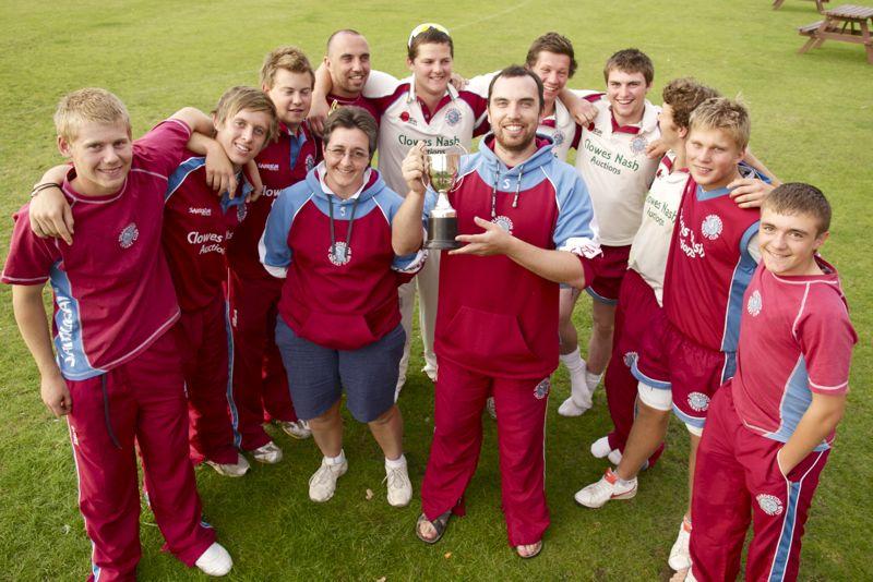 Swardeston's Sunday XI win the Challenge Cup