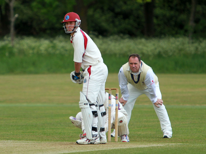 Peter Lambert bats for Swardeston
