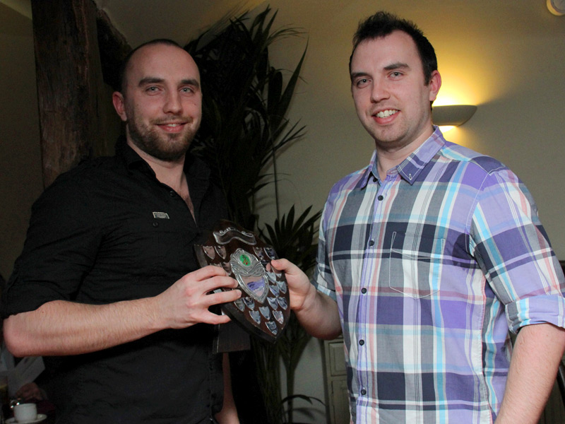 Matt Hogg receives 3rd XI player of the year from captain Ben Hogg