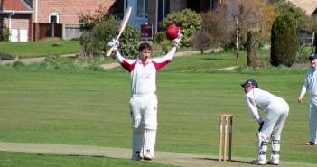 Peter Lambert reaches 100 against Copdock & Old Ipswichian