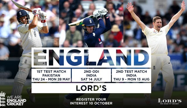 Bid to win England v Pakistan Test Match tickets