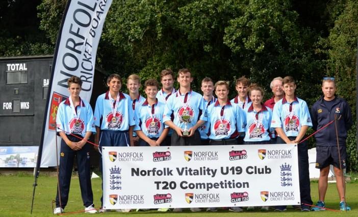 Swardeston CEYMS Sharks win Norfolk Under 19 Club T20 in final ball thriller