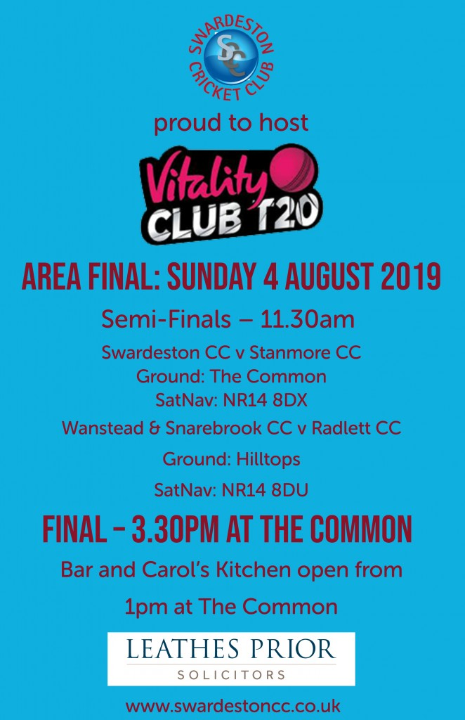 Vitality T20 Area Finals Day 2019