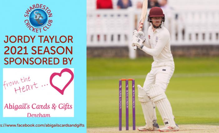 Abigail's Cards & Gifts sponsor Jordy Taylor